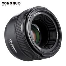 YONGNUO YN50mm F 1,8 Große Blende AF Objektiv Für Canon Nikon D800 D300 D700 D3200 D3300 D5100 D5200 D5300 DSLR kamera Objektiv 50mm