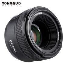 YONGNUO YN50mm F1.8 büyük diyafram AF Canon lensi Nikon D800 D300 D700 D3200 D3300 D5100 D5200 D5300 DSLR kamera lensi 50mm