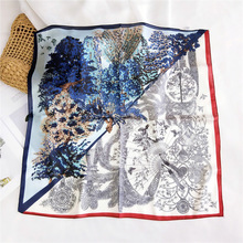 2020NEW 58x58 см небольшой квадратный платок, роковой характер печать искусства Джокер шарф шеи шарф старинные волос группа туристических галстук