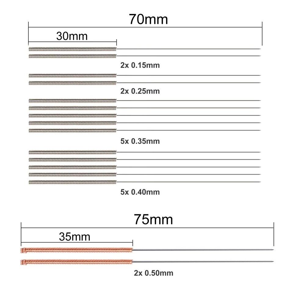 19 Pcs 3D Printer Nozzle Cleaning Kit 16 Pcs 0.15/0.25/0.35/0.4mm Needles Cleaner + 2 Pcs Tweezers Cleaner Nozzle Cleaning Tool
