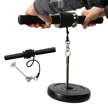 Forearm Trainer Wrist Hand Grip Muscle Strength Training Bodybuilding Gym Fitness Workout Rope Roller Portable Equipment 1