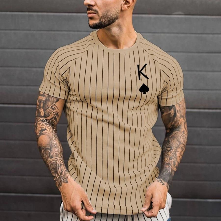 Футболка мужская с коротким рукавом, Повседневная Свободная рубашка с принтом Ace Spades и надписями, лето 2021