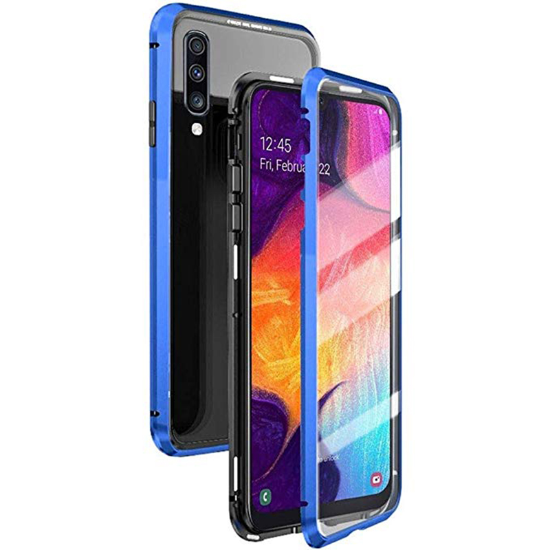 360° Magnetic Metal <font><b>Case</b></font> Cover For <font><b>Samsung</b></font> Galaxy <font><b>A50</b></font> A50s Shockproof Flip Tempered <font><b>Glass</b></font> Bag Coque For <font><b>Samsung</b></font> A 50 50s <font><b>Case</b></font> image