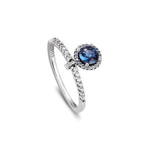 Image 5 - Autentico anello in argento Sterling 925 con pendenti rotondi scintillanti per le donne gioielli fai da te che fanno anelli regalo per la festa nuziale di fidanzamento