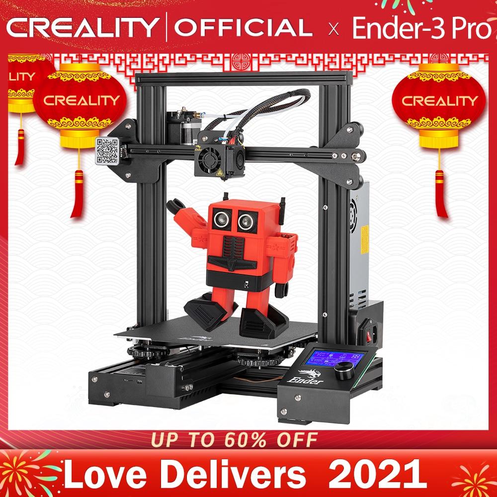 CREALITY-impresora 3D Ender-3 Pro, placa de construcción magnética, KIT de impresión de fallo de energía Mean Well, fuente de alimentación