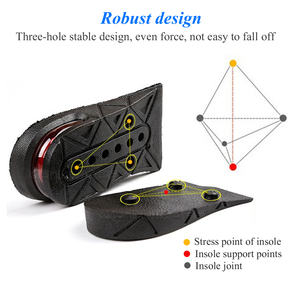 Image 2 - KOTLIKOFF Invisible Height Increase Insole Adjustable 2 Layer 3CM/4.5CM Air Cushion Pads Elevator Soles Insoles inserts For Shoe