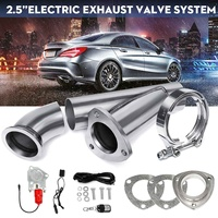 2.5Inch 1 Set Car Truck Electric Exhaust Valve Catback Downpipe Systems Kit Remote Intelligent Boost Cutout E Cut Muffler