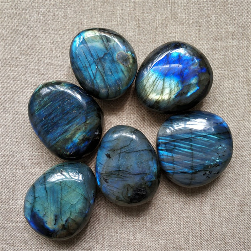 Natural Gem Minerals Labradorite Stone Ornaments Meditation Healing Energy Decoration Crystal