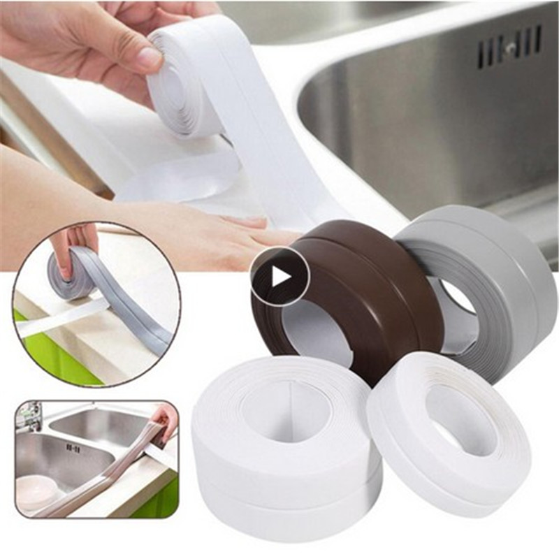 1pc Rubber Tape Sponge Foam Thick Black Strong Adhesion Anti Collision Seal Strip Kitchen Bathroom Wall Waterproof Mold Proof
