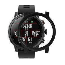 Futerał na inteligentny zegarek dla Huami Amazfit Stratos 2 2S osłona chroniąca przed upadkiem dla Huami AMAZFIT Stratos 2S akcesoria do zegarków obudowa PC tanie tanio HOBBIT smart watch For Huami Amazfit Stratos 2 Smart Watch PC Case For Huami AMAZFIT Stratos 2S Yellow Black