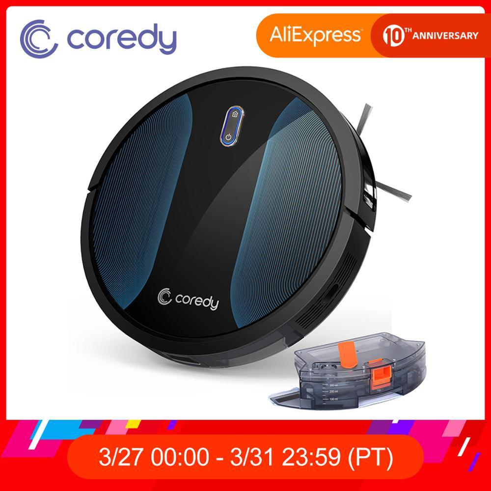 Coredy R500+ Smart  Robot Vacuum Cleaner Wet Dust Water Tank Mop Carpet Hair Cleaning Sweeping Aspirador Floor Mopping Robots