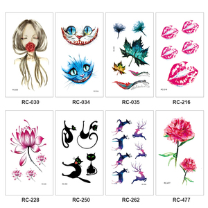Temporary Tattoo Sticker Removable One-time Waterproof 3D Body Art Stickers Cool Personality Makeup Fashion Tools TSLM2