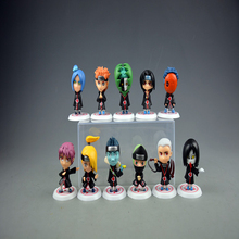Naruto hands-on model knows how to organize car decoration, family portrait, cartoon collection, gift doll around
