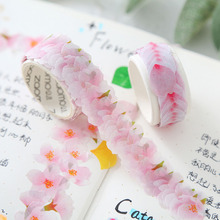 Washi Masking Tape Sakura Flower Paper Masking Tapes Decoration Washi Tape DIY Scrapbooking Sticker цена и фото