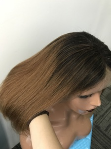 Image 4 - 13X4 Ombre 1B30 Colored Straight Bob Lace Front Wig For Women Lace Frontal Wig Pre Plucked With Baby Hair Cara Remy
