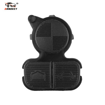 Dandkey Folding Car Flip Key Shell Case Fob Replacement Remote Key 3 Button Rubber Pad For BMW 3 5 7 Alarm Systems Security image