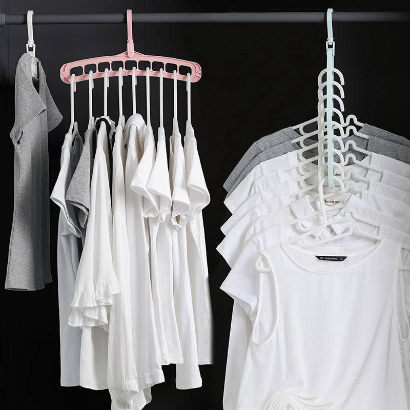 Magic Hangers Clothes Space Saving Hanger Closet Organizer Plastic Clothes Rack