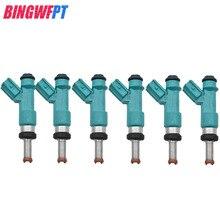 6 adet memeleri Toyota Highlander için yakıt enjektörleri Camry RAV4 Lexus 23250 31090 23209 31090 2325031090 2320931090