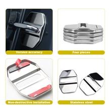 4pc Car Door Lock Cover For Mercedes Benz W212 W213 W202 W176 W210 W211CLS CLA E300 Logo Interior Accessories