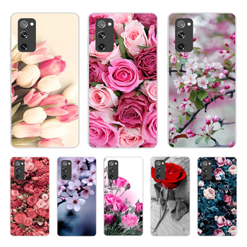 For Samsung Galaxy S20 FE Fan Edition Case Bumper Silicone TPU Soft Phone Cover For Samsung S20 FE S20FE Cases Cute Flower image