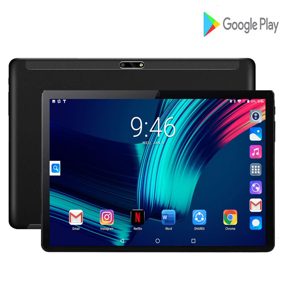 2020 New 10 Inch Tablet Phone Call Android 7 Octa-Core 2G+32G Original Google Market GPS WiFi FM Bluetooth 10.1 Tablets Gifts