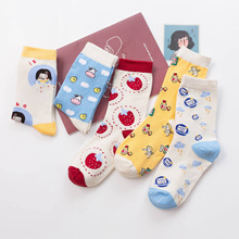 Women Socks Funny Cute Cartoon Fruits  skateboard