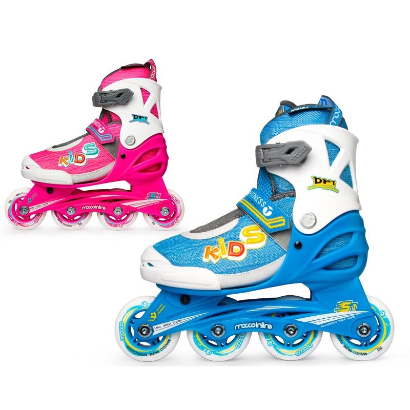 2021 Adjustable Inline Skates Kids Roller Skates Four Roller Skates Sneaker Outdoor Children Skates Patins Sport Shoes