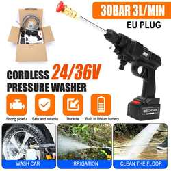 36V 20000Mah Car Washer Electric Pressure Washer 500W High Power Cordless Water Pump Washing Auto Spray Garden Tool