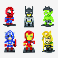 hot LegoINGlys Marvel Super hero Avengers DC mini Micro Diamond Building Block Batman Ironman Spiderman figures bricks toys gift