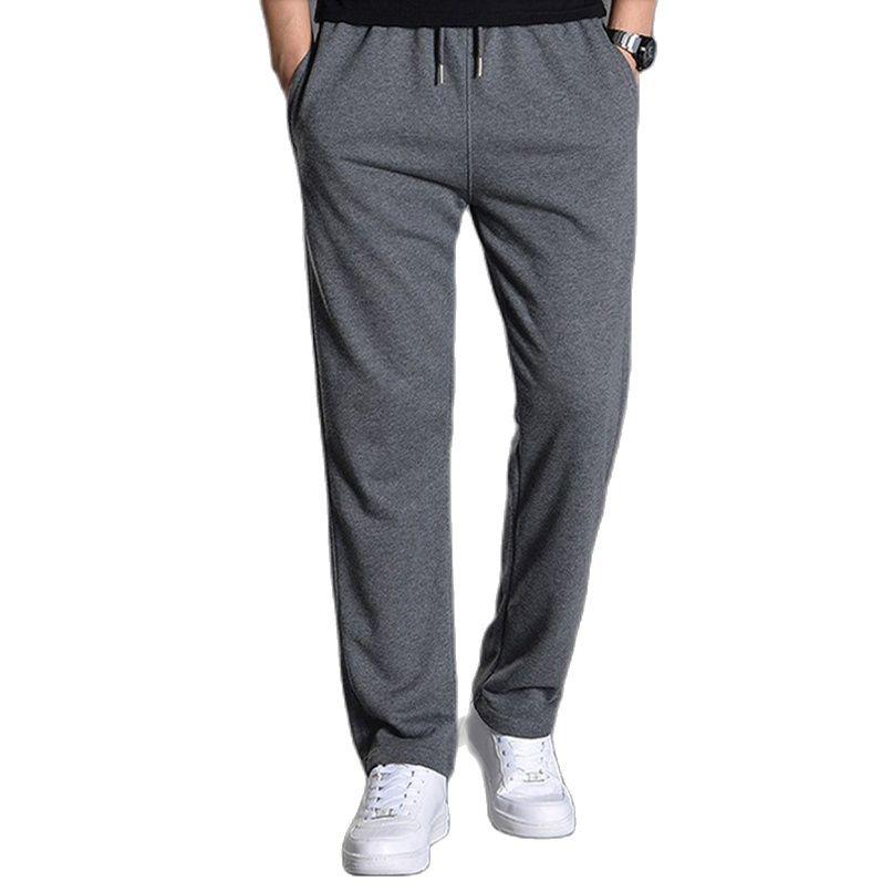 Хлопок штаны Джоггеры мужские спортивные штаны Спортивная одежда трикотажный спортивный костюм, штаны, брюки, более широкая одежда для ног ...