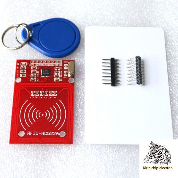 2PCS/LOT Red RC-522 RFIDIC Card Send S50 Fudan Card, Key Chain Provided Develop Code.