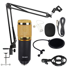 BM 800 Microphone Condenser Sound Recording Microphone With Shock Mount For Radio Braodcasting Singing Recording KTV Karaoke Mic 100% new professional bm 800 bm800 condenser sound recording microphone with shock mount for radio braodcasting singing black