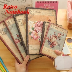 50K/25K Retro Leather Floral Flower Schedule Book Diary Weekly Planner Notebook School Office Supplies