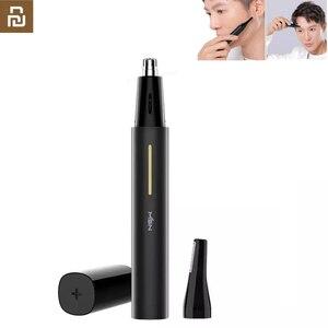 Image 1 - Youpin doppia taglierina LED naso elettrico tagliacapelli tempio sopracciglio rasoio Clipper impermeabile 2 in 1 strumento di pulizia sicuro a doppia lama