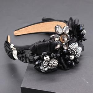 Image 1 - Travel and leisure personality headband  New fashion temperament exaggerated rhinestone bow headband 677