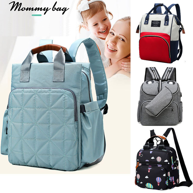 Wavess Baby Stroller Baby Carriage Storage Bag Oxford Cloth Mummy Bag Nappy Changing Backpack