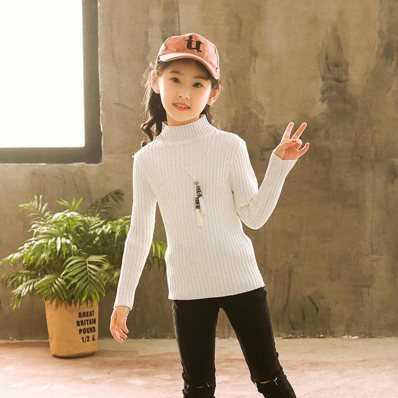 Camisola para meninas 2018 novo estilo coreano outono e inverno roupas para meninas estilo ocidental grande criança crianças outono cl