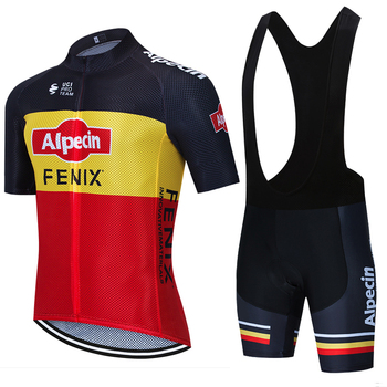 Camiseta de Ciclismo de alpecina roja para hombre, pantalones cortos 20D, de...