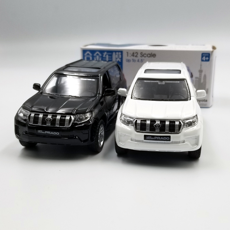 Caipo 1:42 Scale Toyota Prado SUV Alloy Pull-back Car Diecast Metal Model Car For Collection & Gift & Decoration