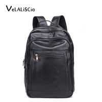 100% Leather Backpack Men Simple High Quality Leather Backpack Male Leather Fashion Trend Youth Leisure Travel Computer Bag Men