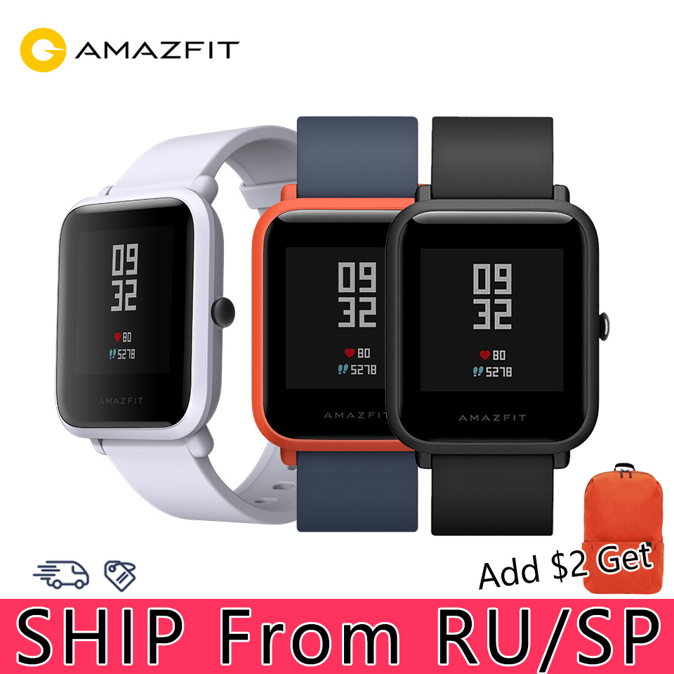 Xiaomi Huami Amazfit Bip Smart Uhr <font><b>GPS</b></font> Smartwatch Android iOS Herz Rate Monitor 45 Tage Batterie bip Lebensdauer Smart Uhr strap image
