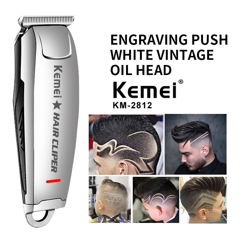 Kemei-2812 Hair Clipper 0mm Electric Hair Trimmer Professional Haircut Shaver Carving Hair Beard Trimmer Machine Styling Tools
