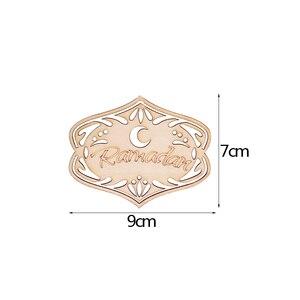 Image 5 - עץ קרפט הרמדאן עיד מובארק קישוטים לבית ירח עץ קישוט תליית תליון האיסלאם מוסלמי ספקי צד