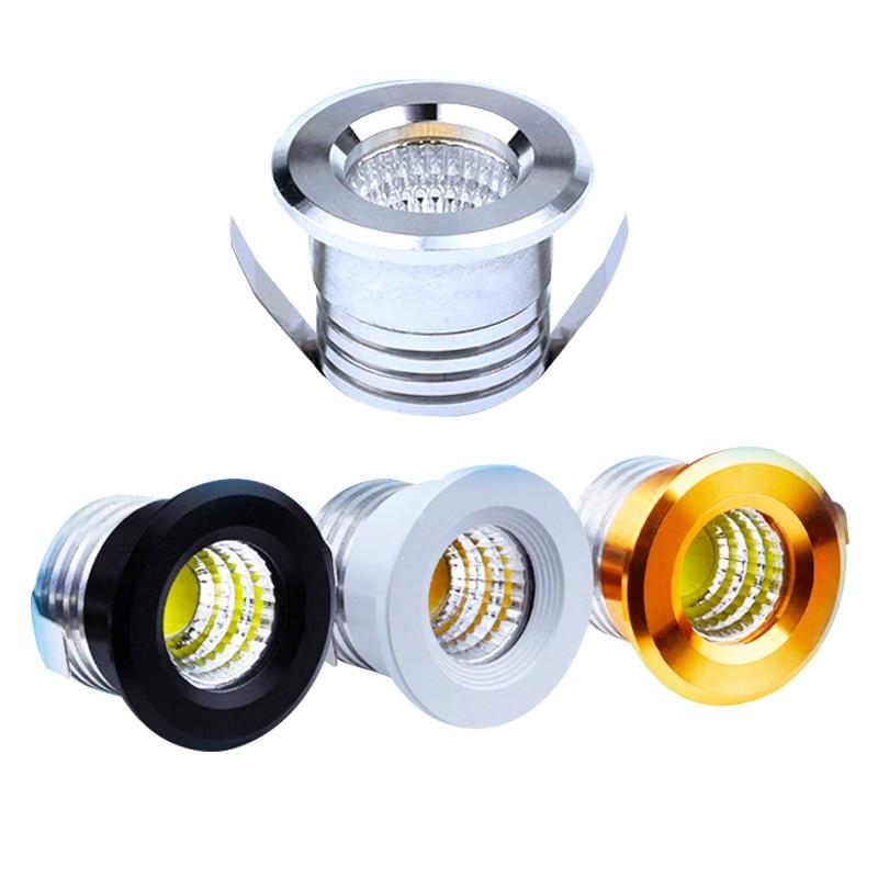 Prateado/preto/branco/dourado mini led downlights 3 w 100 v-240 v exibição de jóias teto recesso gabinete spot lamp