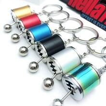 Hellaflush style 6MT Shift lever keychain Car Gearbox key ring JDM decorative Modification auto accessories