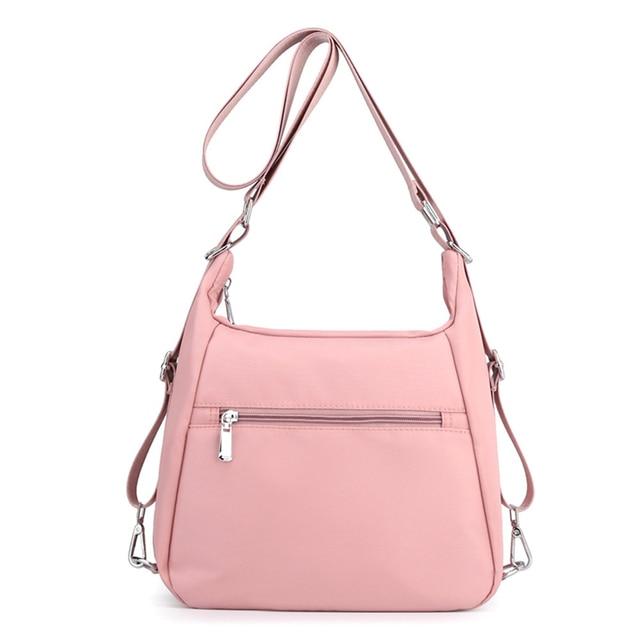 2020 Fashion Woman Shoulder Bag Nylon Waterproof Multi-pocket Messenger Bag Solid Zipper Multifunctional Travel Handbag Purses 5