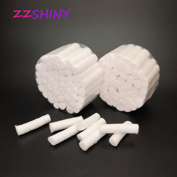 100pcs Dental Hemostatic medical cotton swab Cotton lap roll box of dental materials oral supplies