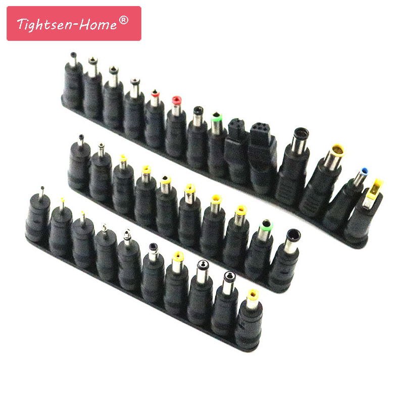34 Pcs/set Universal Plug 34pcs DC Power 5.5x2.1mm AC DC Jack Charger To Plug Power Adapter For Notebook Laptop High Quality