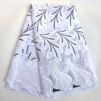 2018 Latest African Cotton Swiss Voile Lace Fabric High Quality White African Swiss Voile Lace In Switzerland For Wedding IG272