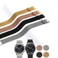 Ремешок сменный Магнитный универсальный из нержавеющей стали для умных часов, браслет «Миланская петля» серебристого цвета, 18 мм 20 мм 22 мм
